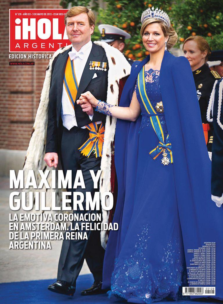 La tapa de la revista ¡Hola! Argentina el día de la coronación