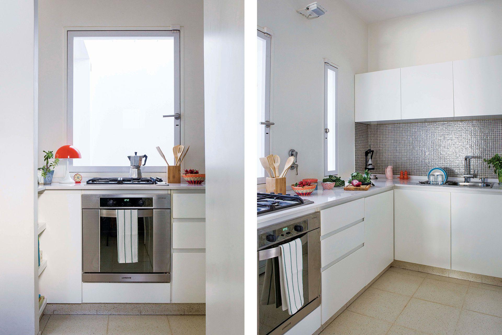 La cocina también tuvo un cambio de ventanas hacia el patio.
