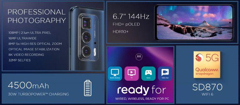 Las características del Motorola Edge 20