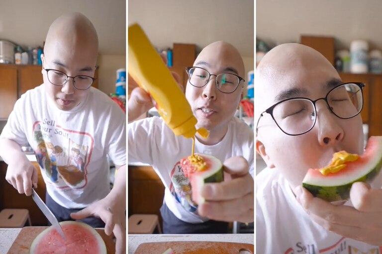 La cuenta de TikTok @yayayayummy propuso un curioso desafío en la red social que se convirtió en el último viral: probar la sandía con mostaza