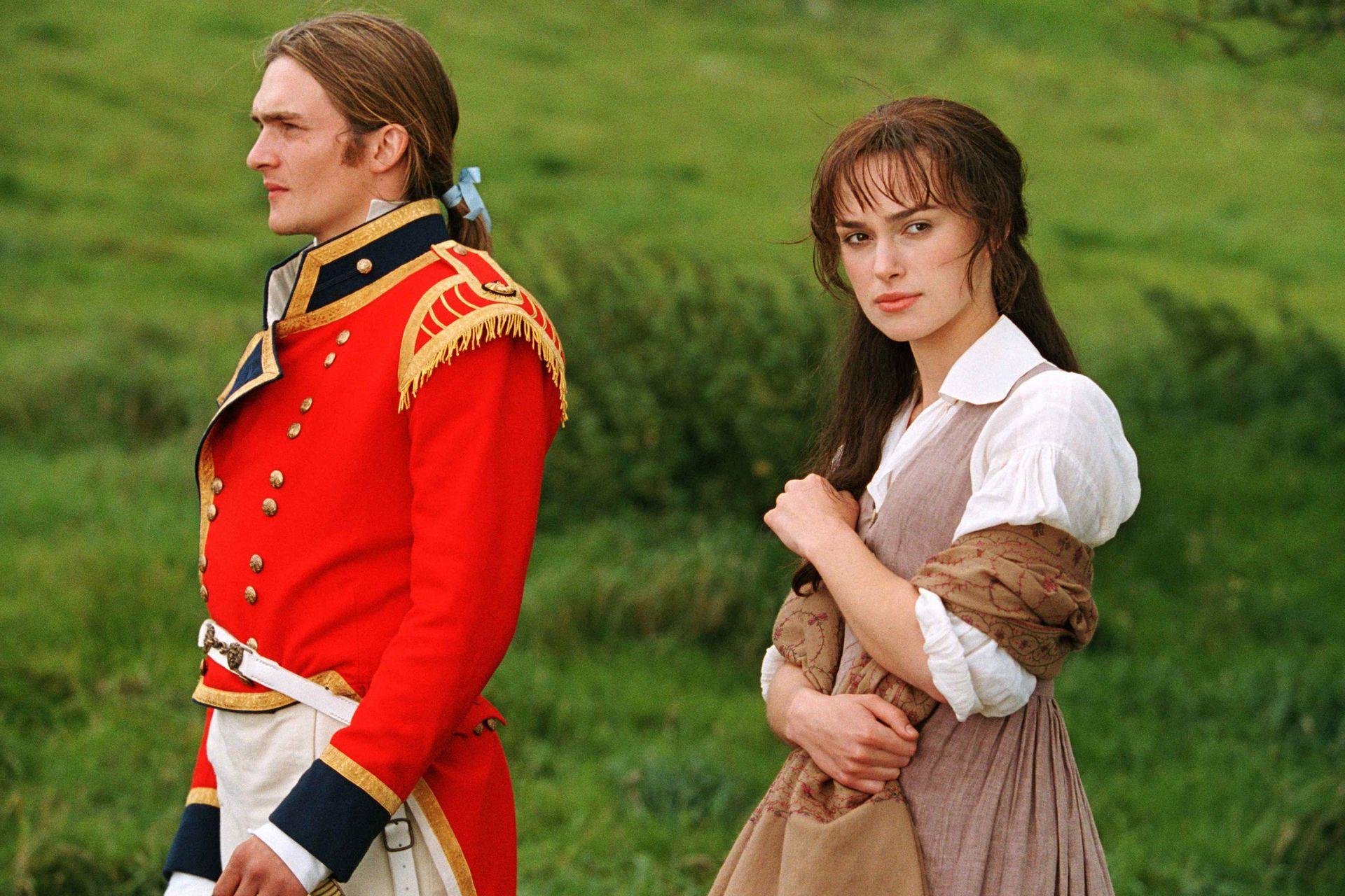 Friend y Knightley en una escena de Orgullo y prejuicio