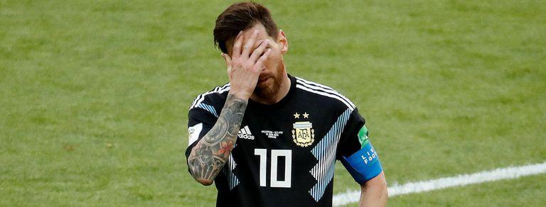 Argentina no pudo en el debut mundialista: empató 1-1 y Messi falló un penal