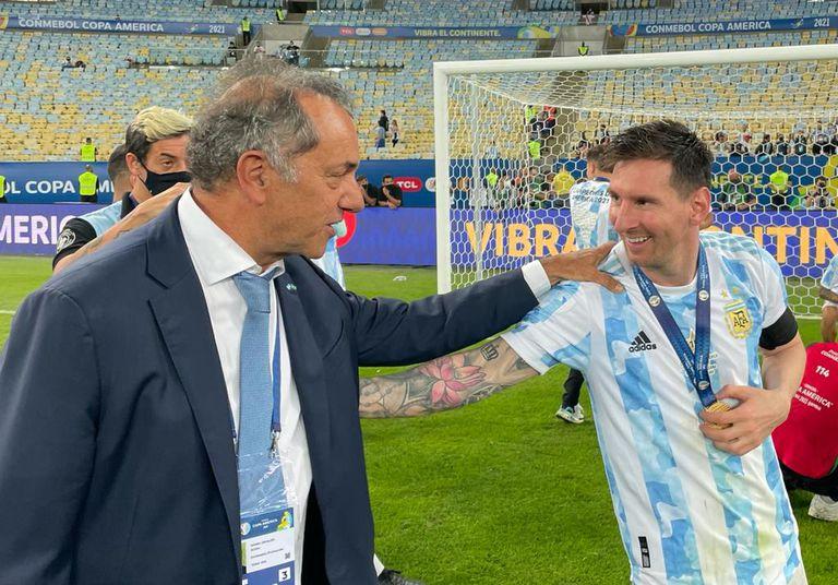 Daniel Scioli y Leonel Messi