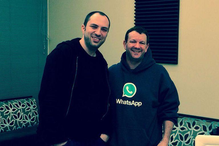 Los cofundadores de WhatsApp, Jan Koum y Brian Acton