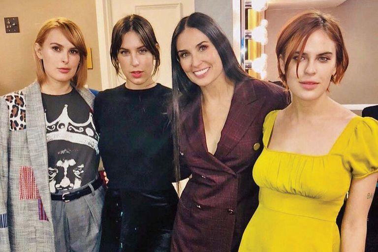 Demi Moore y sus tres hijas: Rumer, Scout y Tallulah