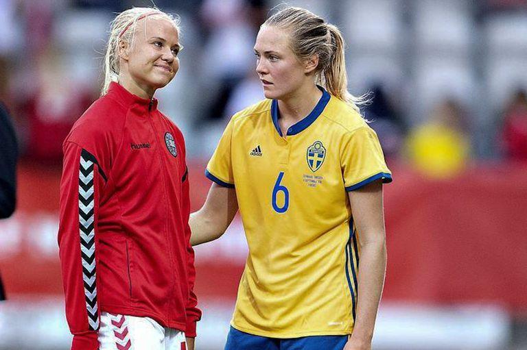 Magdalena Eriksson y Pernille Harder se habían enfrentado en las eliminatorias para el mundial de Francia