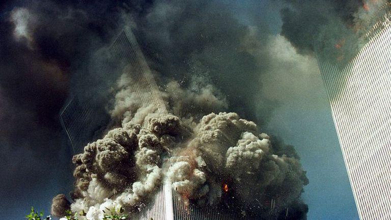 El primer avión chocó contra la torre norte a las 8:45 de la mañana
