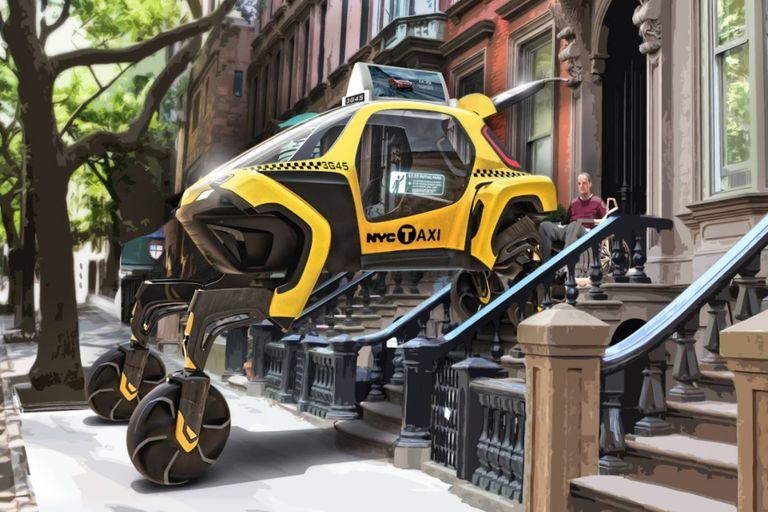 La industria piensa en autos que pueden elevarse para facilitar el ingreso de pasajeros con problemas de movilidad