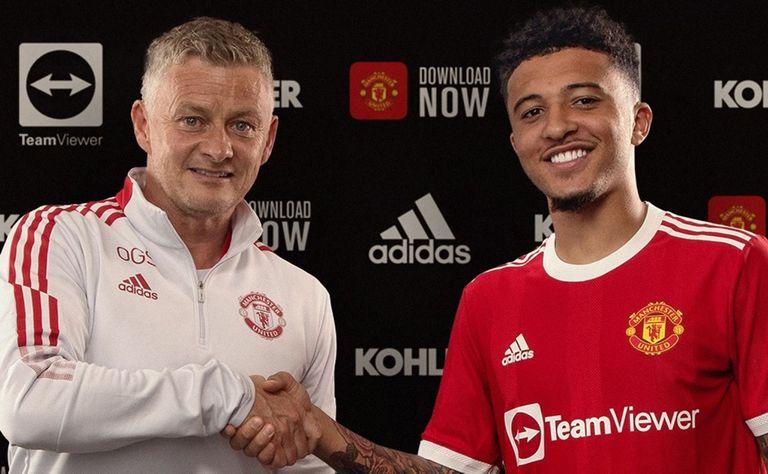 Jadon Sancho es hasta el momento la transferencia más alta del mercado de pases: llegó a Manchester United desde Borussia Dortmund por 85 millones de euros