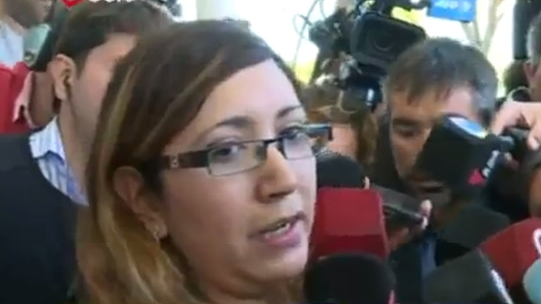 Itatí, es la esposa de uno de los tripulantes