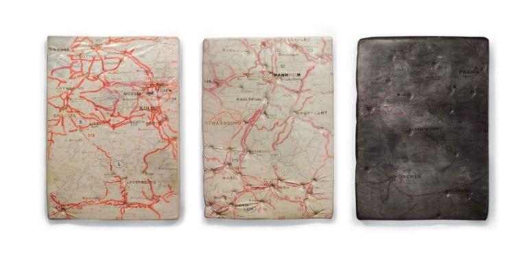 """""""Deng Hagg Praha"""" (1989), de Guillermo Kuitca, vendida en Christie's (NY) en noviembre de 2016 por 511.500 dólares"""