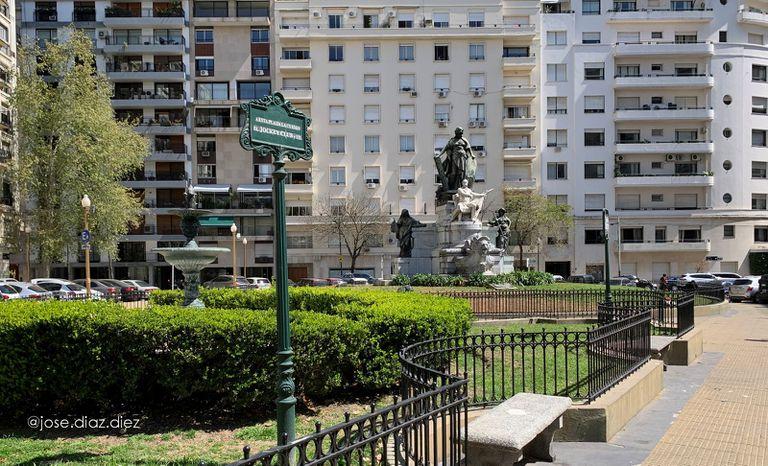 La Plaza Pellegrini, en 2020