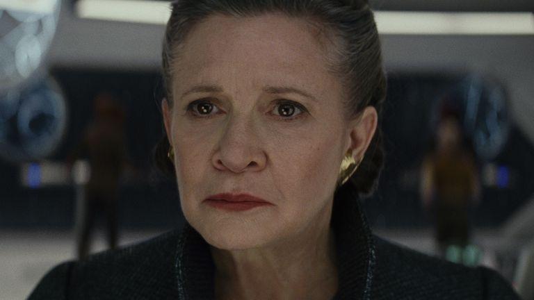 Carrie Fisher y su última participación en el universo Star Wars