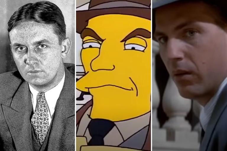 La figura de Eliot Ness fue llevada al cine y, también, a Los Simpson.