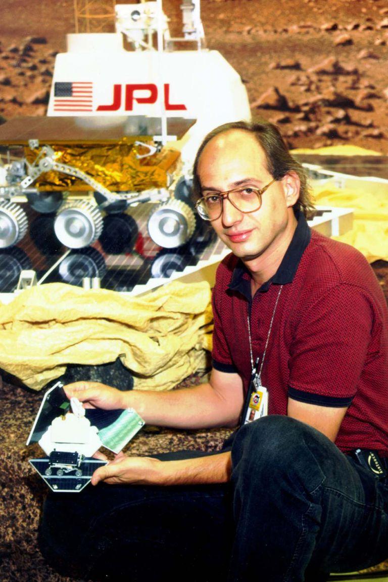 En 1997, trabajando en la misión Pathfinder.
