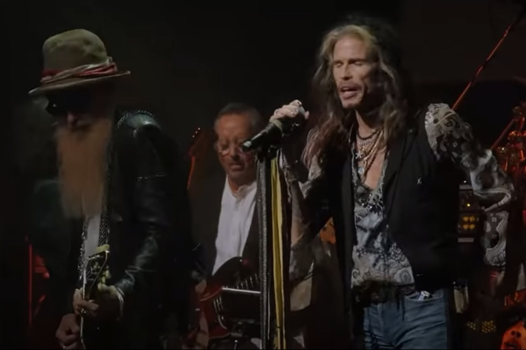 Billy Gibbons y Steven Tyler en el homenaje a Peter Green