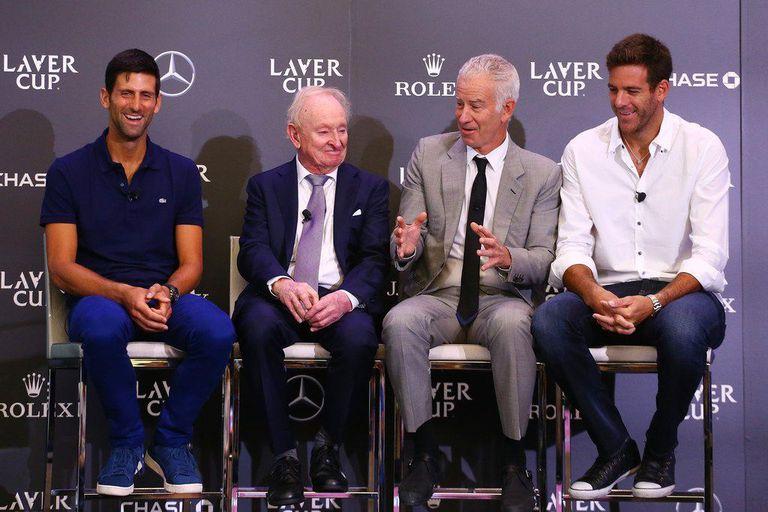 En 2018, Del Potro y McEnroe compartieron la presentación de la Laver Cup junto con el australiano Rod Laver y el serbio Novak Djokovic.