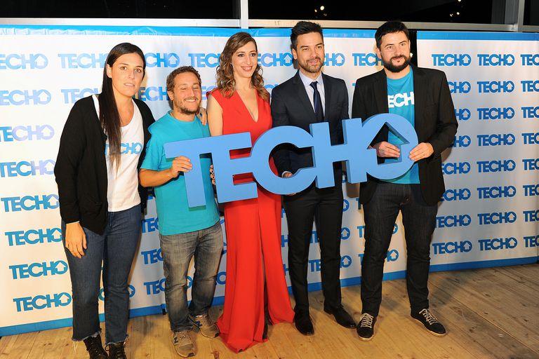 Gisela Busaniche y Leandro Leunis en la cena de la Fundación Techo