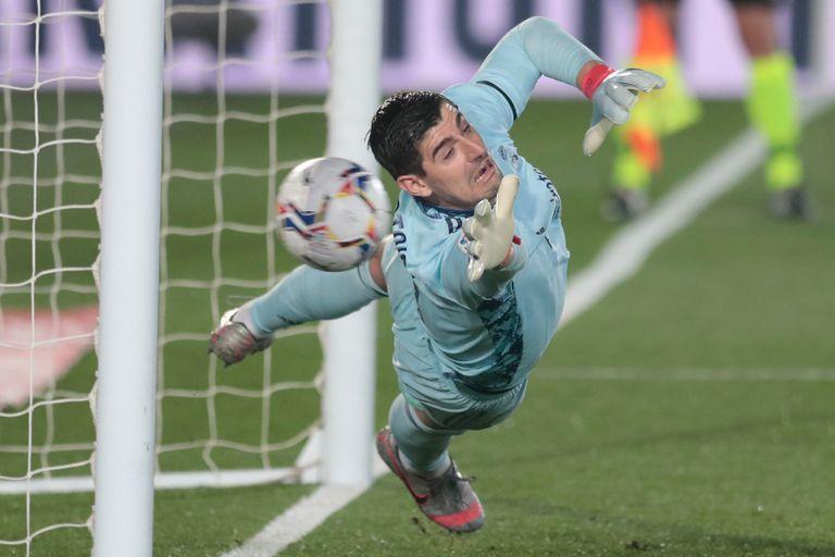 Courtois, una de las figuras del Real Madrid
