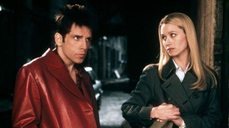 Ben Stiller y Christine Taylor compartiendo pantalla en Zoolander