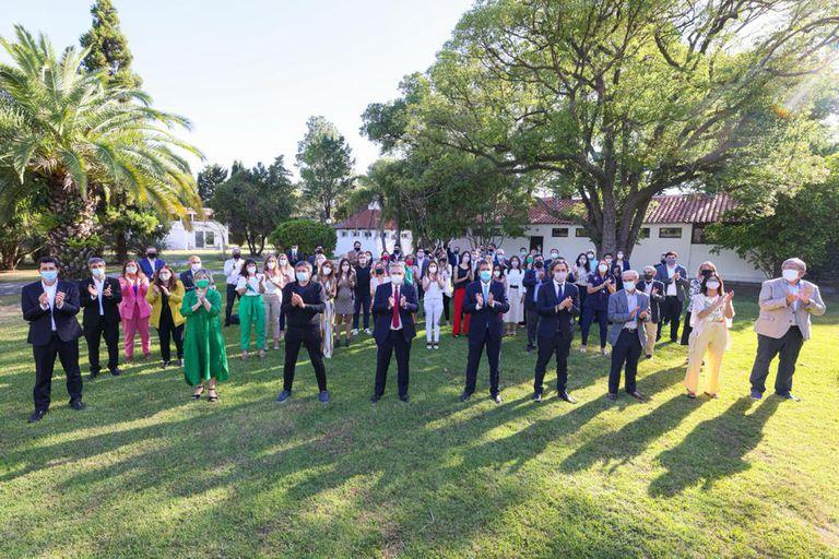 En Olivos. Alberto Fernández recibió a 67 diputados y llamó a la unidad
