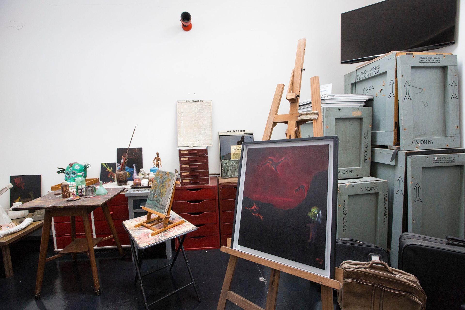Cuadros y elementos de pintura