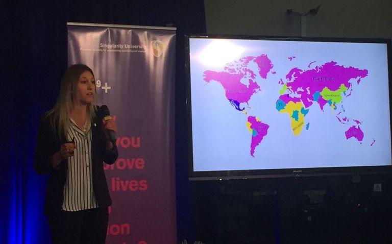 Agustina presentó su aplicación en Silicon Valley