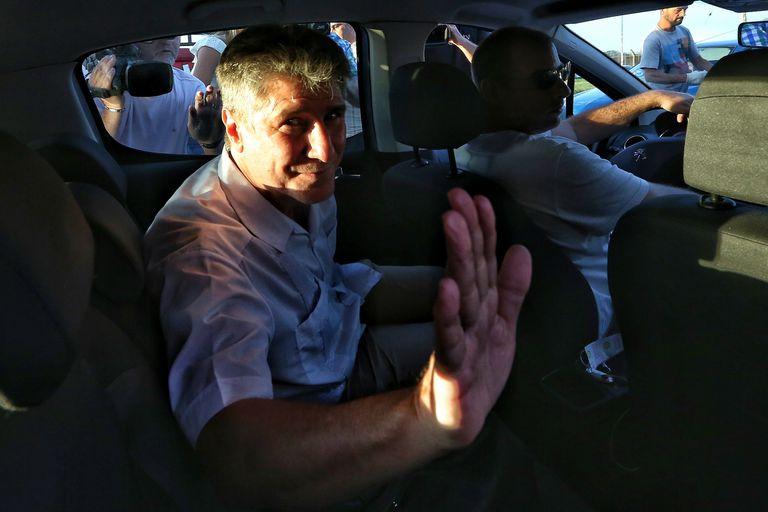 """Boudou salió de prisión y pidió la libertad de los """"presos políticos"""""""