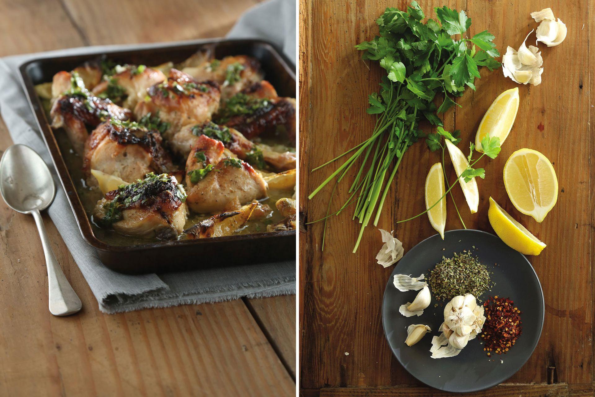 En esta receta, si te quedaste sin limones, podés usar naranjas. También reemplazar el pollo por costillitas de cerdo o carré de cerdo.
