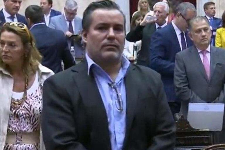 Juan Emilio Ameri, el día que juró como diputado nacional (19 de diciembre de 2019)
