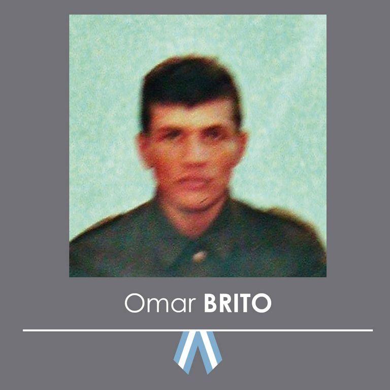 Omar Brito, soldado de Malvinas
