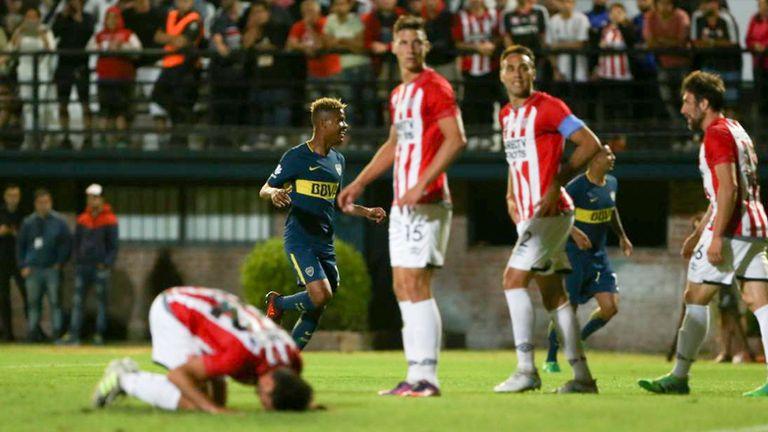 Wilmar Barrios celebra su gol