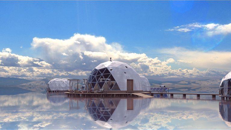 En el centro del complejo, hay un domo central