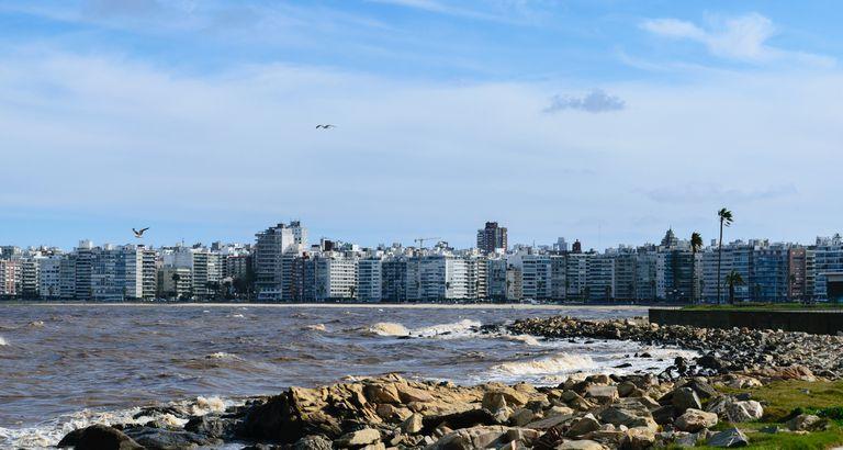 Vista de la ciudad de Montevideo, Uruguay
