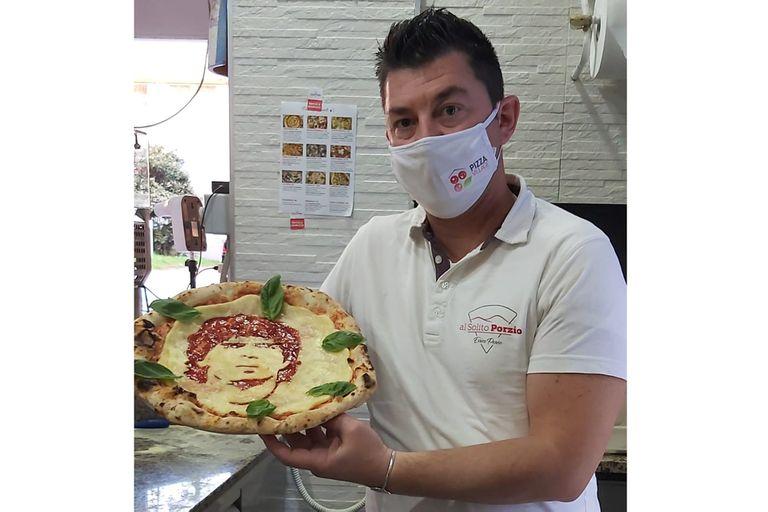 Errico Porzio, el napolitano que creó una pizza con la cara de Diego Maradona