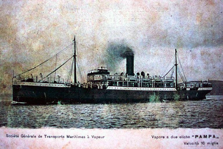 El vapor Pampa de bandera francesa que partió el 15 de noviembre de Estambul con 817 judíos rusos fue fletado por Moritz von Hirsch auf Gereuth, mejor conocido como el Barón Hirsch