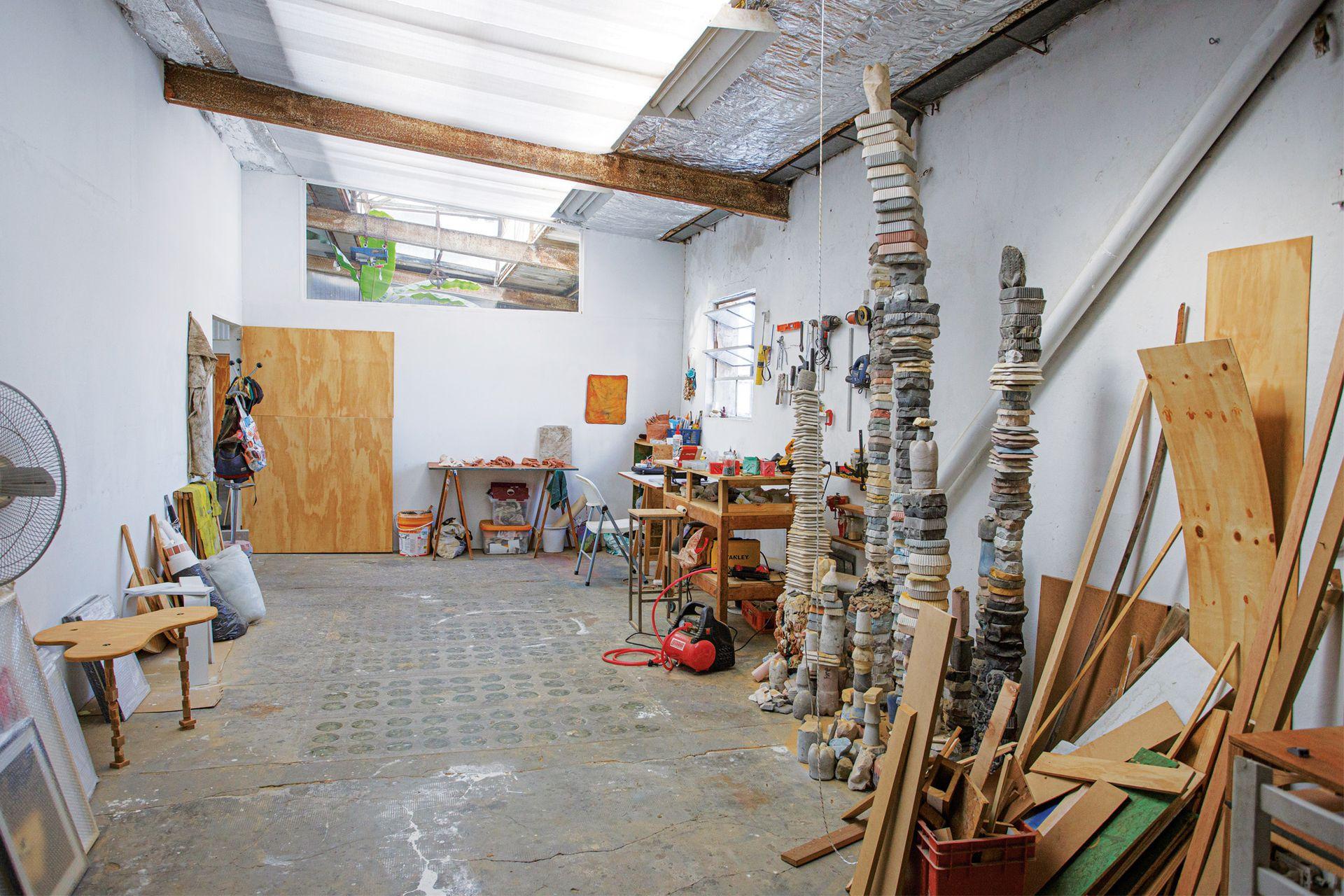 Uno de los espacios de taller Maturín, en donde, a diferencia de los otros talleres, cada artista tiene su estudio a puertas cerradas