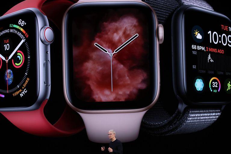 Tim Cook, CEO de Apple, durante el lanzamiento de los nuevos Apple Watch Series 5