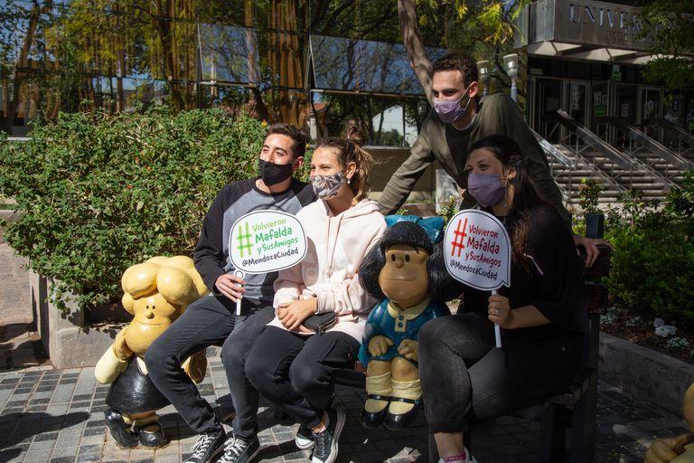 Mafalda y sus amigos volvieron al centro de Mendoza