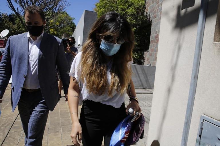 Llegada de Gianinna Maradona a declarar