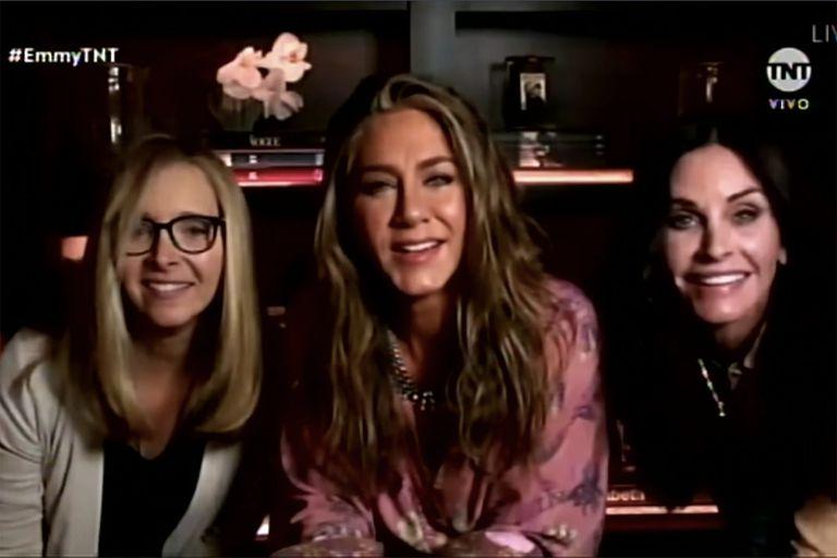 Premios Emmy 2020: Aniston, Cox y Kudrow sorprendieron a Jimmy Kimmel