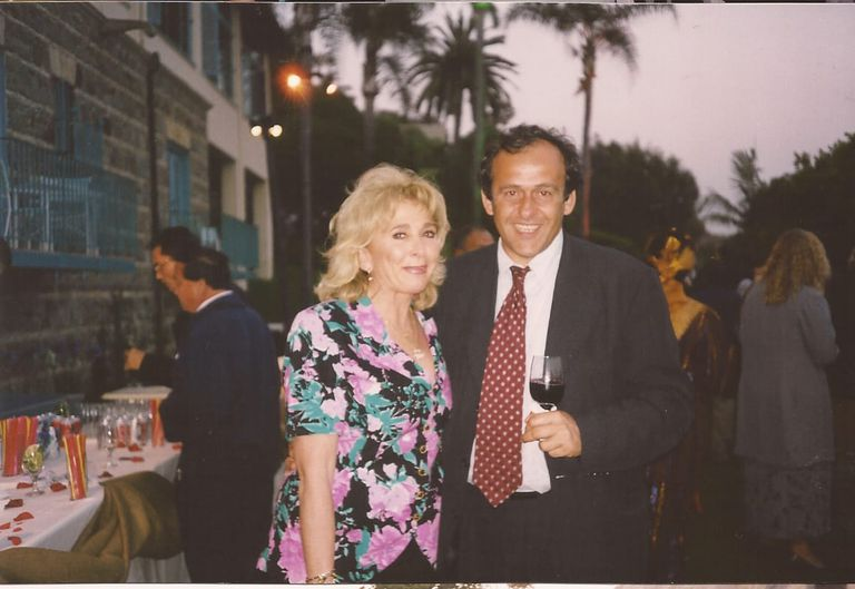 Eglis y Platini, en el Mundial femenino de 1999.