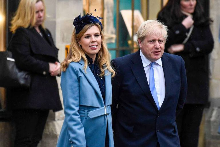 Carrie Symonds y Boris Jhonson tuvieron un hijo el año pasado
