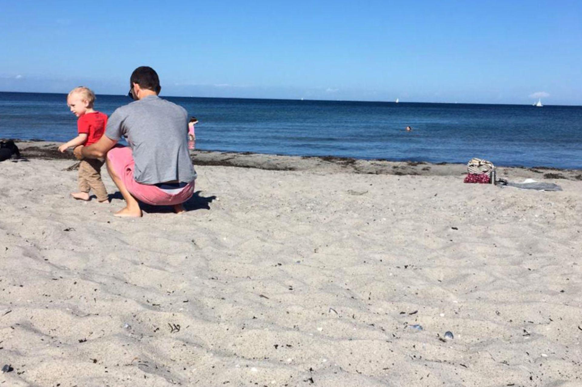 Día de playa con papá.