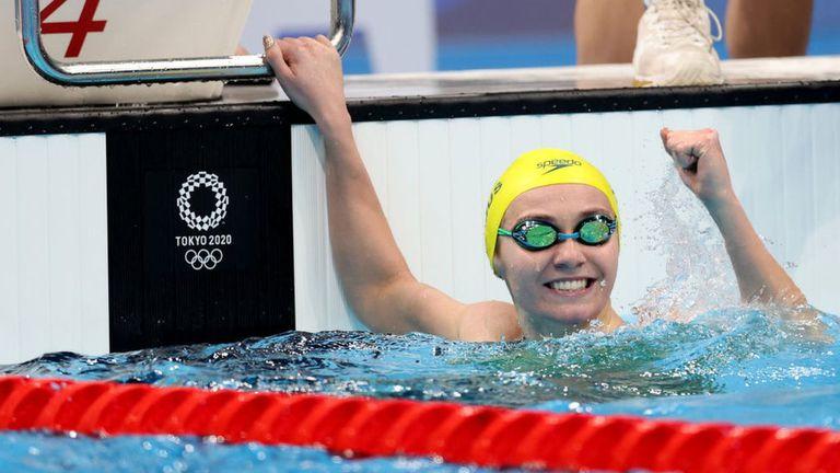 Titmus logró récord olímpico en los 200 m libre.