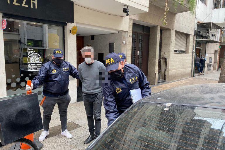 Uno de supuestos integrantes de la mafia calabresa detenido por la Policía Federal