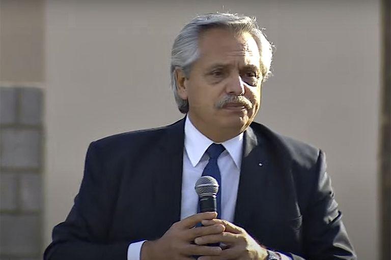 El presidente Alberto Fernández en Isla Maciel