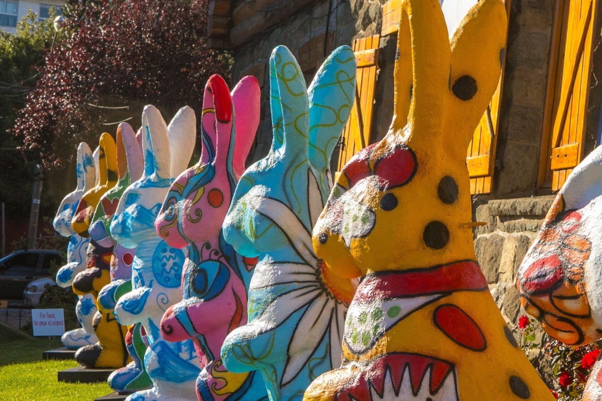 La fiesta del chocolate en Bariloche con huevos y figuras gigantes