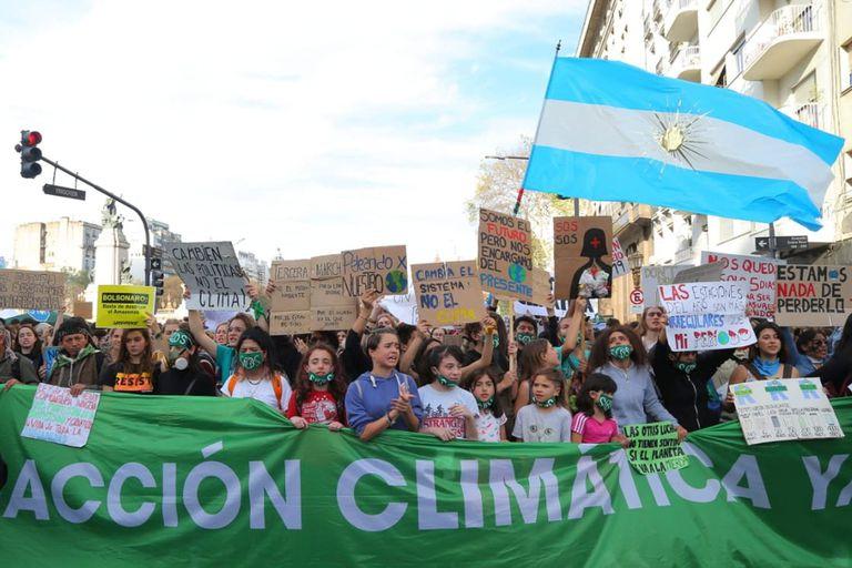 La marcha por el cambio climático fue de Plaza Mayo al Congreso