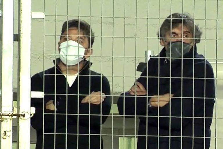 Marcelo Gallardo (entrenador de River) y Enzo Francescoli (manager), en una charla seria tras la victoria sobre Aldosivi en el Monumental.